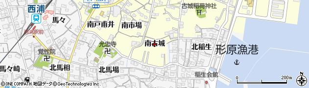 愛知県蒲郡市形原町(南古城)周辺の地図