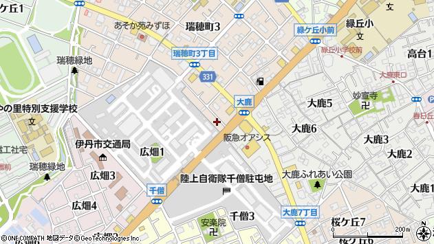 〒664-0013 兵庫県伊丹市瑞穂町の地図