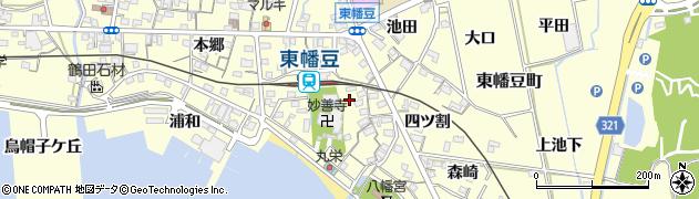愛知県西尾市東幡豆町(森)周辺の地図