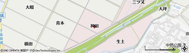 愛知県豊橋市牛川町(神田)周辺の地図