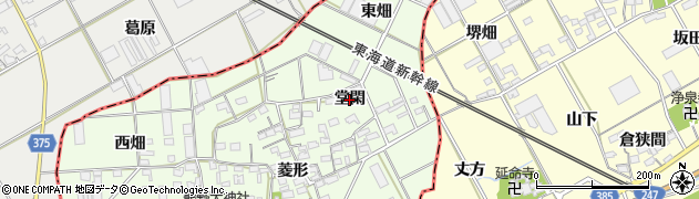 愛知県豊橋市日色野町(堂閑)周辺の地図