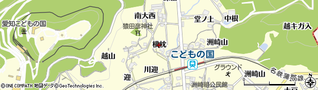 愛知県西尾市東幡豆町(横枕)周辺の地図