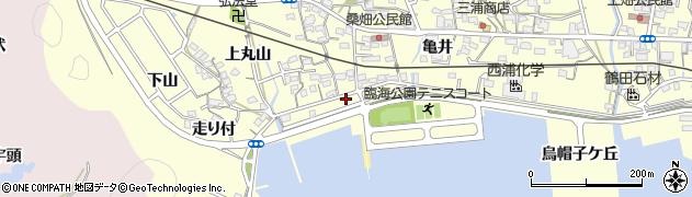 愛知県西尾市東幡豆町(琵琶浦)周辺の地図