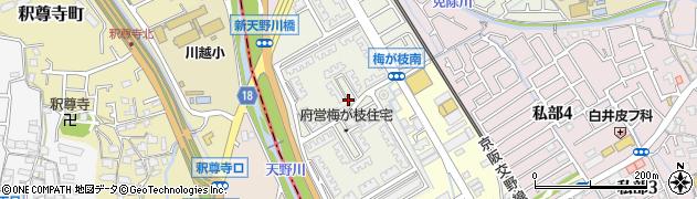 梅が枝住宅周辺の地図