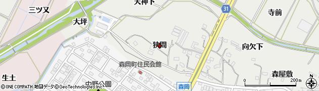 愛知県豊橋市石巻本町(狭間)周辺の地図