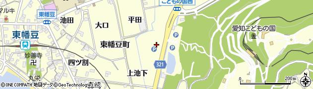 愛知県西尾市東幡豆町(上神田)周辺の地図