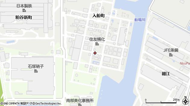 〒672-8076 兵庫県姫路市飾磨区入船町の地図