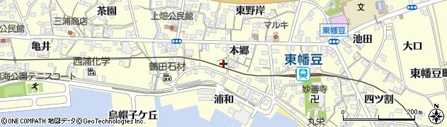 愛知県西尾市東幡豆町(本郷)周辺の地図