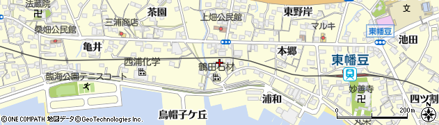 愛知県西尾市東幡豆町(崎ノ畑)周辺の地図
