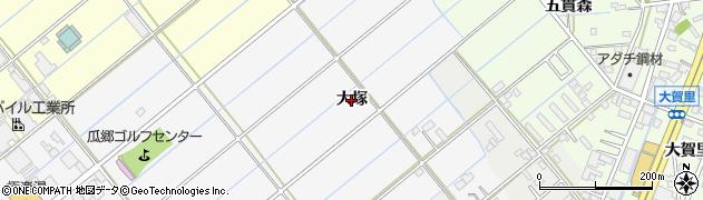 愛知県豊橋市瓜郷町(大塚)周辺の地図