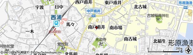 愛知県蒲郡市形原町(南戸甫井)周辺の地図