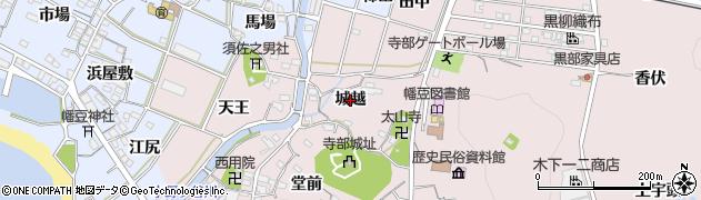 愛知県西尾市寺部町(城越)周辺の地図