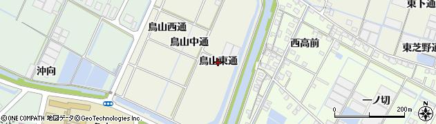 愛知県西尾市一色町酒手島(鳥山東通)周辺の地図