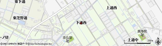 愛知県西尾市一色町千間(下通西)周辺の地図