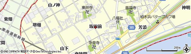 愛知県豊川市平井町(坂田前)周辺の地図