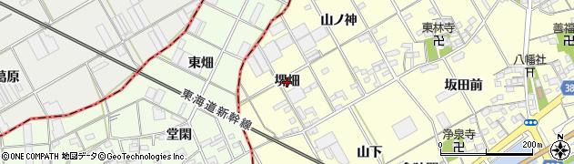 愛知県豊川市平井町(堺畑)周辺の地図
