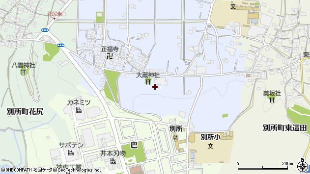 〒673-0445 兵庫県三木市別所町西這田の地図