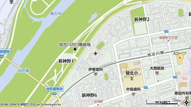 〒675-0008 兵庫県加古川市新神野の地図