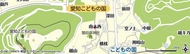 愛知県西尾市東幡豆町(南大西)周辺の地図