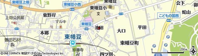 愛知県西尾市東幡豆町(池田)周辺の地図