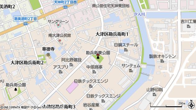 〒671-1132 兵庫県姫路市大津区勘兵衛町の地図