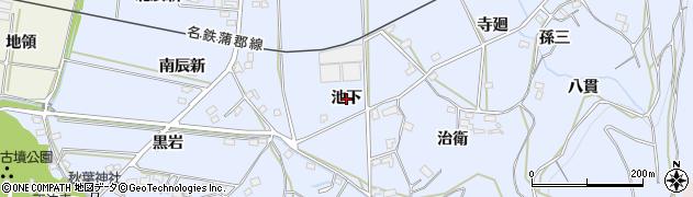 愛知県西尾市吉良町乙川(池下)周辺の地図