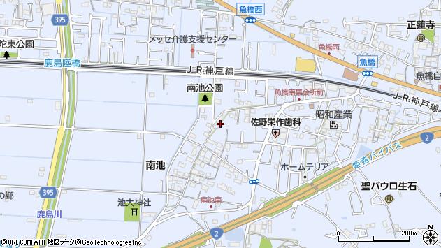 〒676-0824 兵庫県高砂市阿弥陀町南池の地図