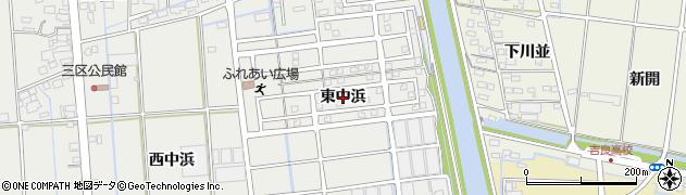 愛知県西尾市吉良町吉田(東中浜)周辺の地図