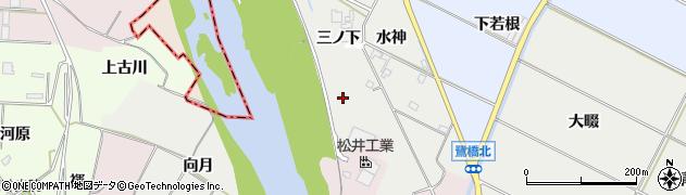 愛知県豊橋市下条西町(堀切)周辺の地図