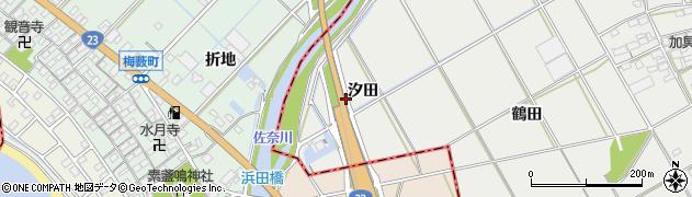 愛知県豊川市伊奈町(汐田)周辺の地図