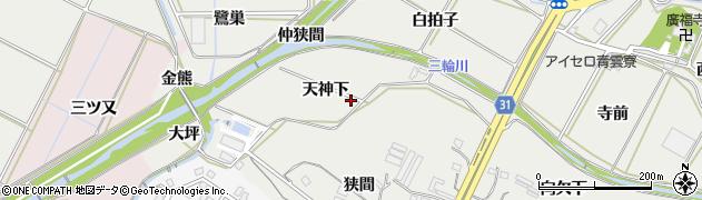 愛知県豊橋市石巻本町(天神下)周辺の地図