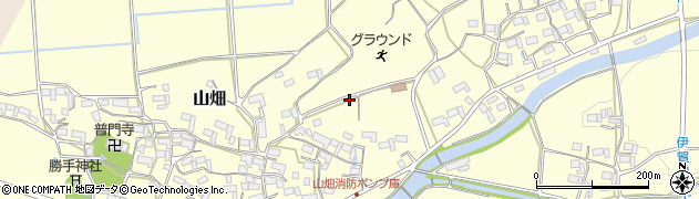 三重県伊賀市山畑周辺の地図