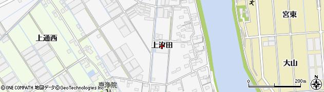 愛知県西尾市一色町松木島(上汐田)周辺の地図