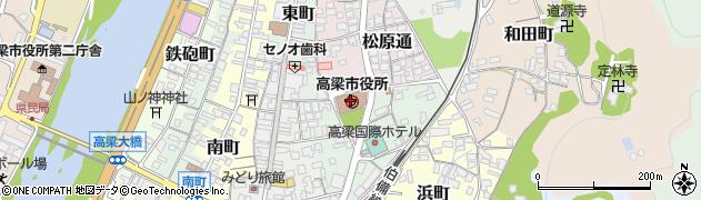 岡山県高梁市周辺の地図