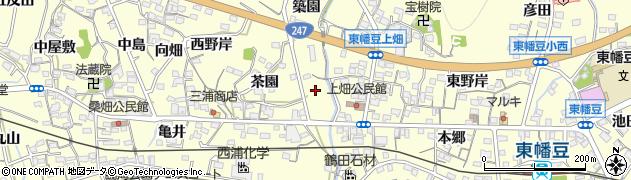愛知県西尾市東幡豆町(河原)周辺の地図