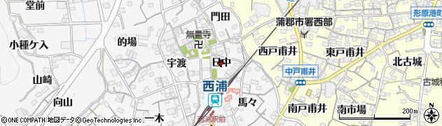愛知県蒲郡市西浦町(日中)周辺の地図