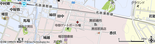 愛知県西尾市寺部町(林添)周辺の地図