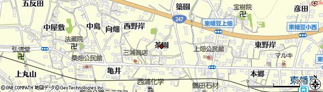 愛知県西尾市東幡豆町(茶園)周辺の地図