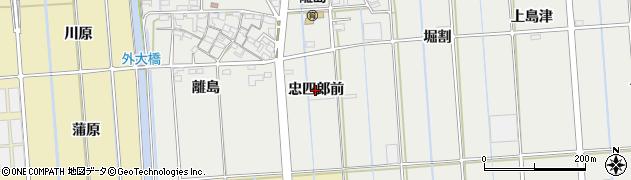 愛知県西尾市吉良町吉田(忠四郎前)周辺の地図