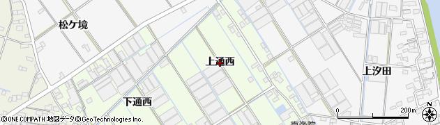 愛知県西尾市一色町千間(上通西)周辺の地図