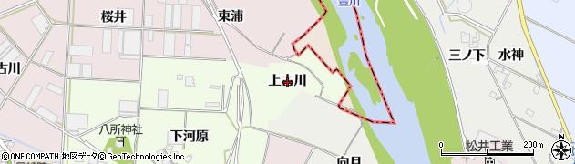愛知県豊橋市大村町(上古川)周辺の地図