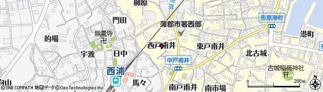 愛知県蒲郡市形原町(西戸甫井)周辺の地図