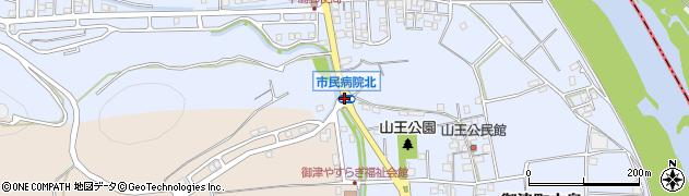 御津病院北周辺の地図