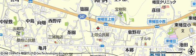 愛知県西尾市東幡豆町(鍛治屋畑)周辺の地図