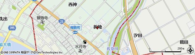 愛知県豊橋市梅薮町(折地)周辺の地図