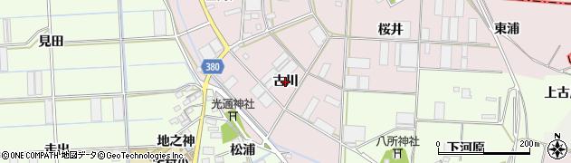 愛知県豊橋市長瀬町(古川)周辺の地図