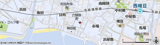 愛知県西尾市西幡豆町(中野郷)周辺の地図