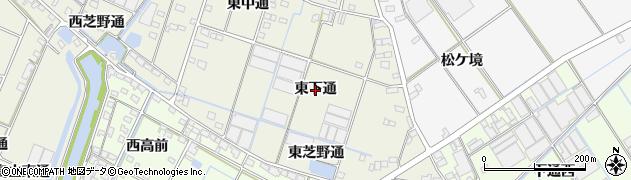 愛知県西尾市一色町酒手島(東下通)周辺の地図