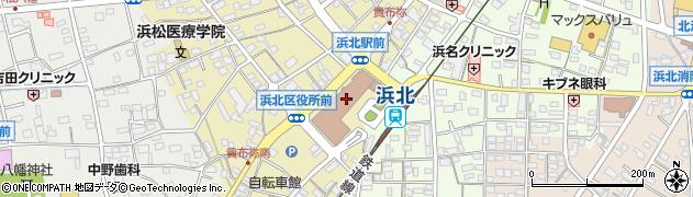 静岡県浜松市浜北区周辺の地図