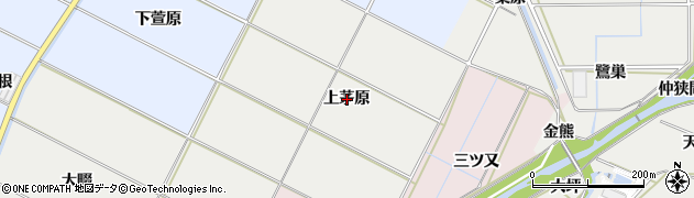 愛知県豊橋市下条西町(上茅原)周辺の地図